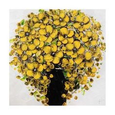 Vase Yellow Flowers Painting W80 x H80 cm