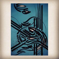 Modern persian and arabic calligraphic piece by Sasan Nasernia