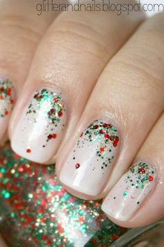 Holiday nail inspiration.