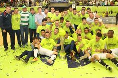 Así celebró Bello real Antioquia, su primer título de la Liga Argos Futsal.