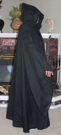 Grim Reaper Costume Death Reeper Spooky Black by DaFabricAteHer 7a0d45fae