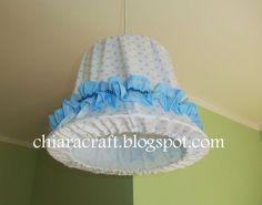 lampadario stoffa : Lampadario di stoffa handmade - Baby fabric chandelier handmade