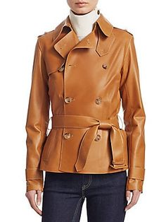 6d3d2dc3813d Ralph Lauren Collection Iconic Style Buffy Leather Trench Jacket