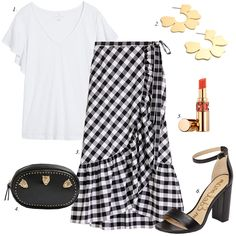 nordstrom anniversary sale 2018, gingham skirt, how to build summer wardrobe, women fashion, outfit ideas