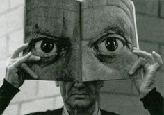 Charles Eames posing with a Mask of Picasso's Eyes, photography by Inge Morath, - Charles Eames posing with a Mask of Picasso's. Charles Eames, White Photography, Portrait Photography, Inge Morath, Foto Portrait, Night Pictures, Pablo Picasso, Illustration, Images