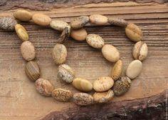 Яшма пейзажная 14 мм овал бусины камни для украшений. Handmade.