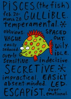 """My Youngest Daughter's (a Pisces) """"Bad Side"""""""