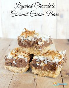 Layered Coconut Chocolate Cream Bars