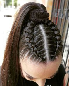Unique & Latest Style of Braids HairYou can find Braided hairstyles and more on our website.Unique & Latest Style of Braids Hair Sporty Hairstyles, Cool Braid Hairstyles, Easy Hairstyles For Long Hair, Baddie Hairstyles, Teen Hairstyles, Braids For Long Hair, Pretty Hairstyles, Braids Into Ponytail, Braids For Girls