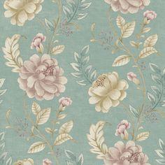 """Empress Summer Palace 33' x 20.5"""" Floral Wallpaper"""