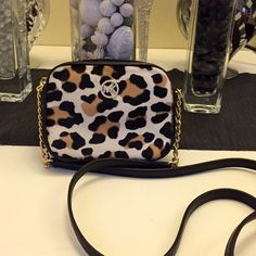 Michael kors fulton hair calf leopard Brand new with tags 100% authentic black leather trim Michael Kors Bags Crossbody Bags
