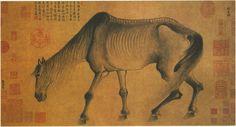 Gong Kai - Emaciated Horse 骏骨图 (1222-1307)