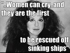 Gilda Radner on why it is far better to be a woman than a man. (1964-1989)