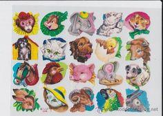 HOJA DE 20 CROMOS TROQUELADOS PARA PICAR. (Coleccionismo - Cromos y Álbumes - Cromos Troquelados) Vintage Ornaments, Art Ideas, Nostalgia, Scrapbook, Stickers, Painting, Diy Dog, Baby Mobiles, Die Cutting