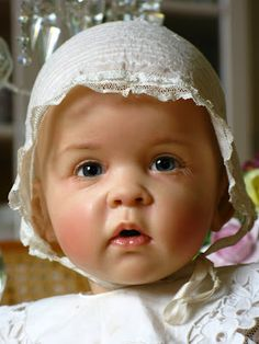 """Thea"" by Sissel Bjorstadt Skille  This is a ""baby doll""...how gorgeous and life like...Wow"