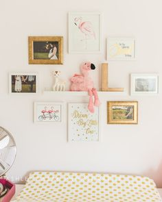 Baby Flamingo Nursery Kaufman Adventures Bedroom Room Wall Art