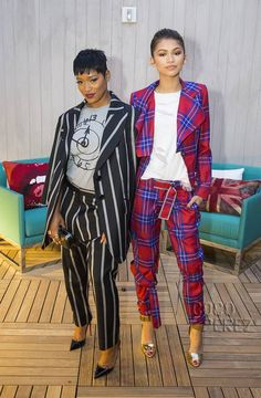Zendaya and Keke Palmer at the opening of 'The Penthouse Inspired by Vivienne Westwood' at The London West Hollywood.