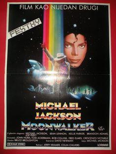 MOONWALKER 1989 MICHAEL JACKSON JOE PESCI VERY RARE EXYU MOVIE POSTER