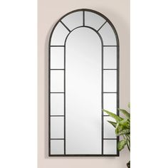 Darby Home Co Vertical Silhouette Black Wall Mirror