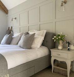 Neutral Bedroom Decor, Master Bedroom Interior, Room Ideas Bedroom, Home Decor Bedroom, Feature Wall Bedroom, Bedroom Wall, Bedroom Quotes, Bedroom Signs, Bedroom Styles