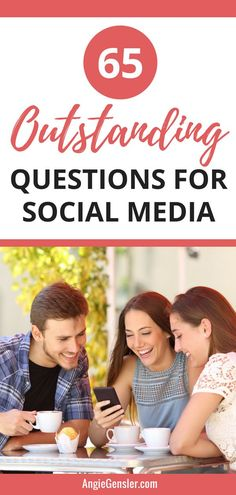 65 Outstanding Questions for Social Media. This list of questions worked like gang-busters to up my social media game. I get so many comments every time I ask one of these questions. Facebook Marketing, Content Marketing, Social Media Marketing, Digital Marketing, Mobile Marketing, Marketing Strategies, Affiliate Marketing, Online Marketing, Social Media Games