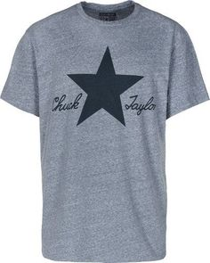 f774d93a2d7 Converse Men s All Star Chuck Taylor Graphic T-Shirt-Heather Blue-Small