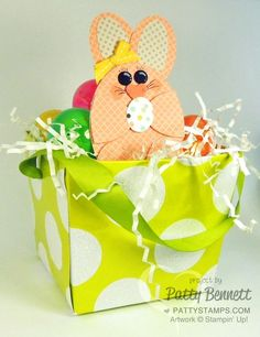 Make your own punch art Easter Bunny with Stampin Up oval framelits and punches! by Patty Bennett www.PattyStamps.com