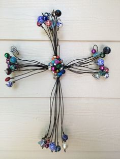 Items similar to Hand made decorative beaded rustic wire crosses on Etsy Prayer Crafts, Wire Crosses, Rustic, Unique Jewelry, Handmade Gifts, Christmas, Vintage, Etsy, Decor