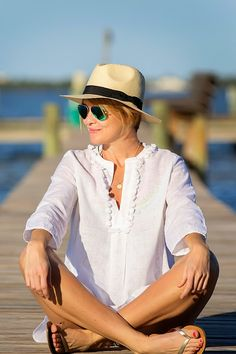 affordable eyewear sn4h  Love this coverup and straw hat-s e e r s u c k e r + s a d d l e s
