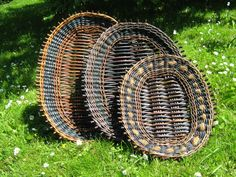 Willow trays. Danish.