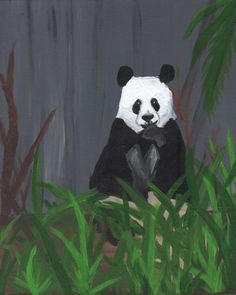 A Panda Snacking - Free Arts Academy- Art From Our Channel Art Paintings For Sale, Acrylic Paintings, Art For Sale, Sky Painting, Art Academy, Panda Bear, Pet Portraits, Flower Art, Abstract Art
