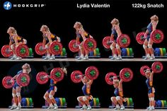 She's my girl crush, fer sure. Lidia Valentin Snatch Sequence, courtesy of… Power Training, Weight Training, Weight Lifting, Crossfit Inspiration, Fitness Inspiration, Butt Workout, Gym Workouts, Athlete Workout, Best Weight Loss