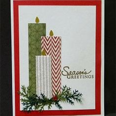 Escape2stamp: 3D items..l Really like this idea for a Christmas card.