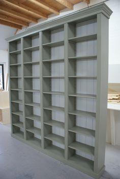 Grenen boekenkast | white wash boekenkast | grenen boekenkasten op maat gemaakt | Meubelmakerij - de Grenenhoeve