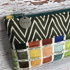 Artsy Clutch Artsy Pouch Art Supply Bag Cosmetic Bag by AuntHenri