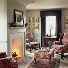 a country cottage living room