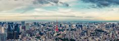 Tokyo Panorama x by Acxacd Panorama City, Tokyo City, High Quality Images, New York Skyline, Cities, Places To Visit, China, Japan, World