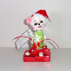 """New Annalee 6"""" Snowflake Mouse Christmas Plush Doll. Figure, dated 2012.  #Annalee #christmas #gifts"""