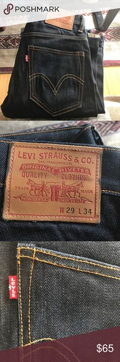 "Levi's ""York"" Raw Denim Skinny Jeans Brand new from my BFs closet. 29x34 Levi's Jeans"