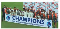 Indian Cricket Team won the consecutive Test series at home and equaled Australia's record for the most consecutive series wins at home. Cricket Score, Live Cricket, Cricket Match, Indian Cricket News, Latest Cricket News, India West, Cricket Update, West Indies