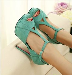 $36.87 sweet elegant high-heeled shoes sandal Slugged bottom elegant and cute sweet fashion heel:12.5cm Slugged bottom:4cm