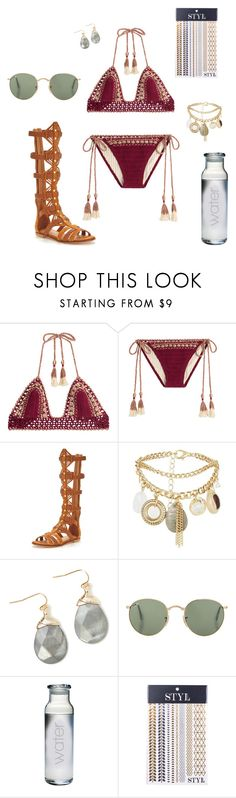 """""""Festival Swim"""" by walzfashion ❤ liked on Polyvore featuring SHE MADE ME, KG Kurt Geiger, New Look and STYLondon"""