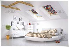 Rolety dachowe deKEA w stylu retro do okien Fakro, Velux, Roto i Okpol i wielu innych