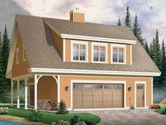 Eplans Craftsman Plan - Cottage-Like Guest Suite and Garage - 1096 Square Feet and 2 Bedrooms from Eplans - House Plan Code HWEPL12314