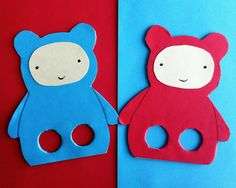 Teddy Bear, Teddy Bear :: Finger Leg Puppets