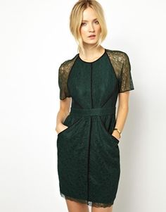 Image 1 ofWhistles Rebecca Dress in Lace