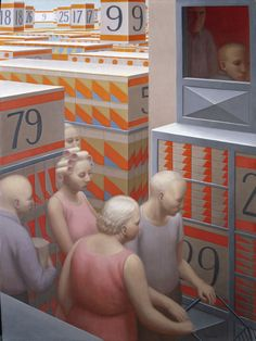 The Supermarket by George Tooker, 1972.