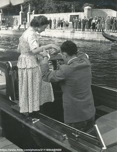 DATE:May 1949 D:Princess Margaret steps to boat,during her visit to Venice,Italy /original photo George Duke, King George, Peter Townsend, Margaret Rose, Duke Of York, House Of Windsor, Ex Wives, Queen Elizabeth Ii, Royal Families