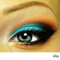 Maquiagem para realçar os olhos claros #makeup #maquiagem