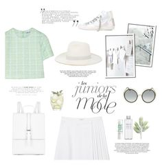 """""""Leave me lonely"""" by riennise ❤ liked on Polyvore featuring Maroc, Monki, Janessa Leone, T By Alexander Wang, Muji, Chloé, Philippe Model and Meli Melo"""